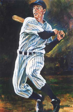Yankees Series Joe DiMaggio fine art print