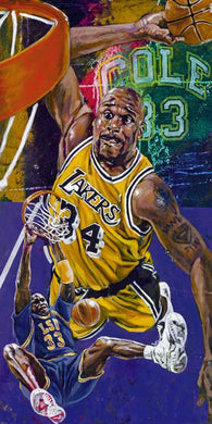 Shaquille O'Neal limited edition fine art print featuring Shaq