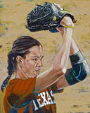 Cat Osterman original painting by Robert Hurst autographed by Osterman