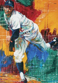 Koufax Delivery fine art print featuring Sandy Koufax