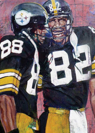 Bad Company fine art print featuring Pittsburgh Steeler's John Stallworth and Lynn Swan