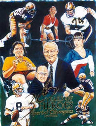 New Orleans Saints Special Olympics autographed poster