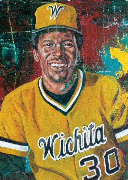 Joe Carter - Wichita State autographed limited edition print