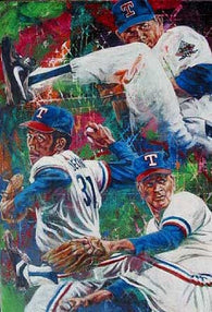 Texas Rangers HOF Pitchers autographed limited edition print