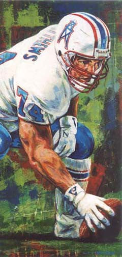Bruce Matthews autographed limited edition print