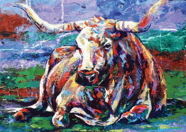 Longhorn Laydown limited edition giclee print