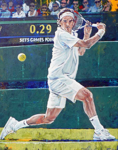 Federer - fine art print featuring tennis great Roger Federer