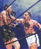 Marciano and Lewis boxing print