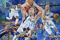 Won and Done limited edition canvas giclee celebrating the Dallas Mavericks 2011 NBA Championship win