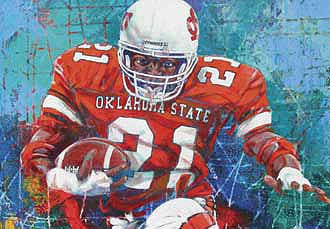 Barry Sanders fine art print
