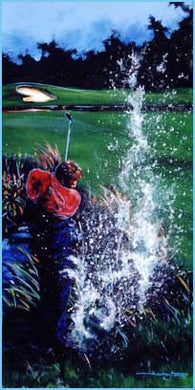Water Shot golf print