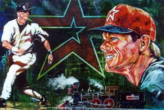 (Craig) Biggio at the Ballpark fine art print