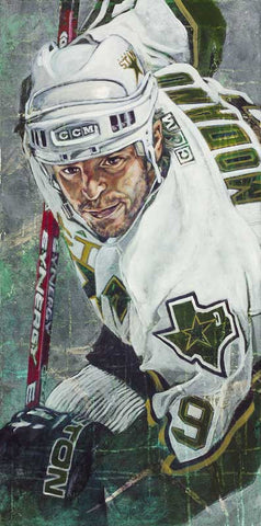 Mike Modano autographed painting