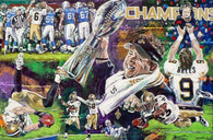 The Ain'ts No More - limited edition giclee print celebrating the New Orleans Saints XLIV Super Bowl win