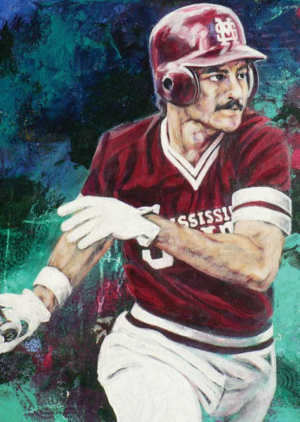 Rafael Palmeiro - Mississippi State autographed limited edition print