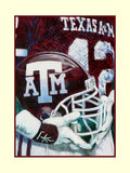 College Football Helmet Series: Texas A&M fine art print signed by Dat Nguyen