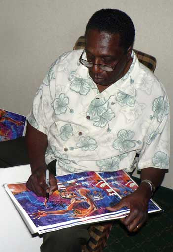 Meadowlark Lemon autographed art print