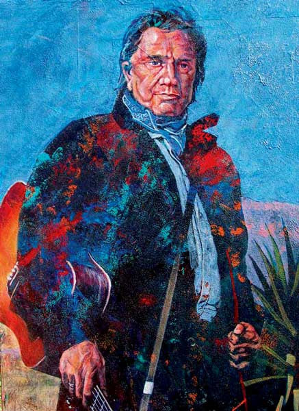 Black n' Blue fine art print Johnny Cash