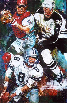 Dallas 7, 8, 9 fine art print featuring Dallas sports greats
