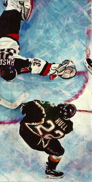 In The Crease - Dallas Star 1998-99 Stanley Cup fine art print