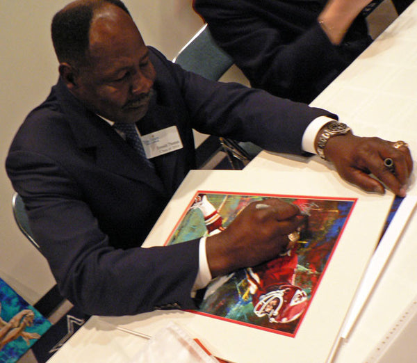 Emmitt Thomas autographed limited edition print