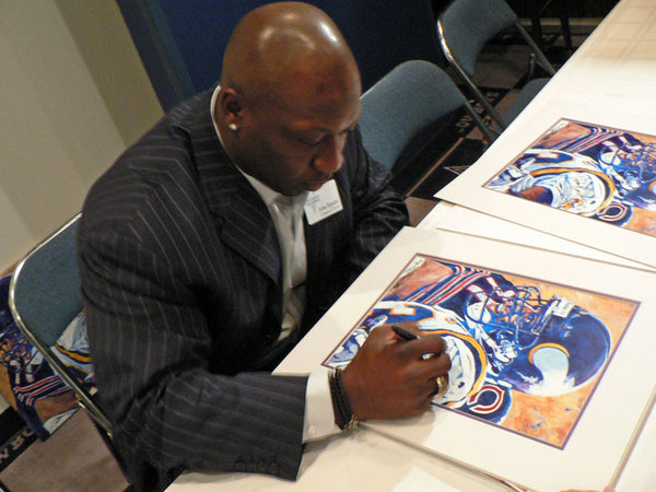 John Randle autographed limited edition print