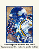 Double Matted Print Sample - Sports Prints