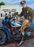 1931 Harley Flathead at Gruene Hall fine art print