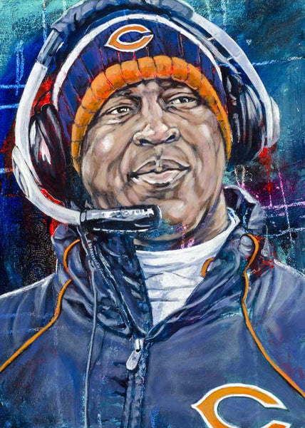 Lovie Smith autographed limited edition fine art print