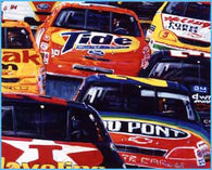 And Now a Word from Our Sponsors nostalgic auto racing print / poster