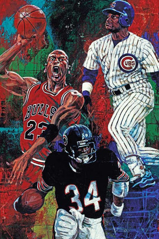 Chicago Trio limited edition giclee print on canvas