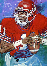 Andre Ware autographed limited edition fine art print
