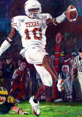Vince Young at the Rose Bowl 2005 fine art print