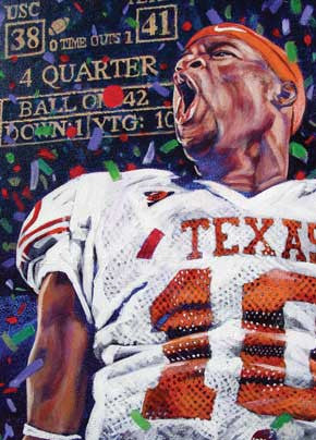 VY Celebration fine art print featuring Vince Young