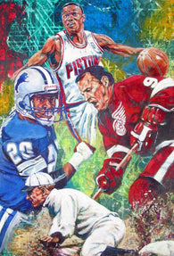 Detroit Sports Greats fine art print