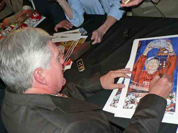 Mack Brown autographed limited edition fine art print