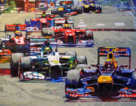 Formula One Series: Track Pack original painting on canvas by Robert Hurst