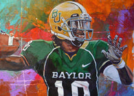 Robert Griffin III (RG3) Back for the Pass - Baylor Bears fine art print