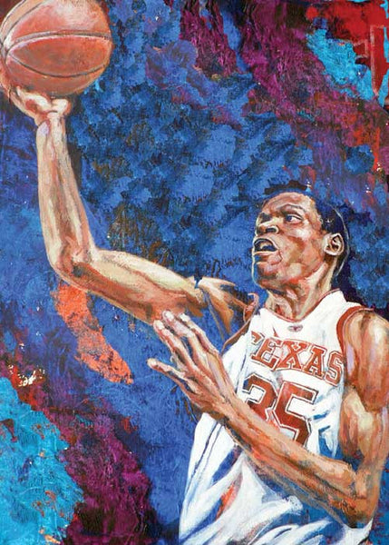 (Kevin) Durant at UT autographed fine art print signed by Durant