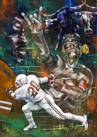 Tyler Rose of Texas fine art print featuring Earl Campbell