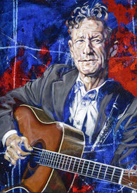 Lyle Lovett autographed limited edition fine art print