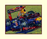 Formula One Artwork Series by Robert Hurst - Sample Double Matted Print