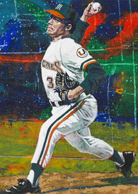 Alex Fernandez - University of Miami autographed fine art print signed by Fernandez