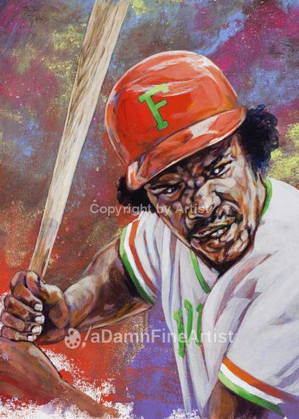 Andre Dawson - Florida A&M autographed fine art print signed by Dawson