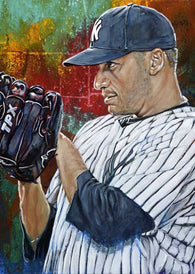 Andy Pettitte autographed limited edition fine art print signed by Pettitte