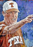 Augie Garrido - Texas autographed fine art print signed by Garrido