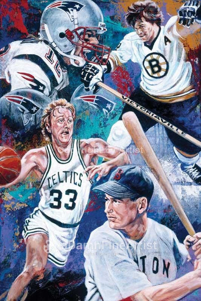 Best of Boston fine art print featuring Boston sports greats