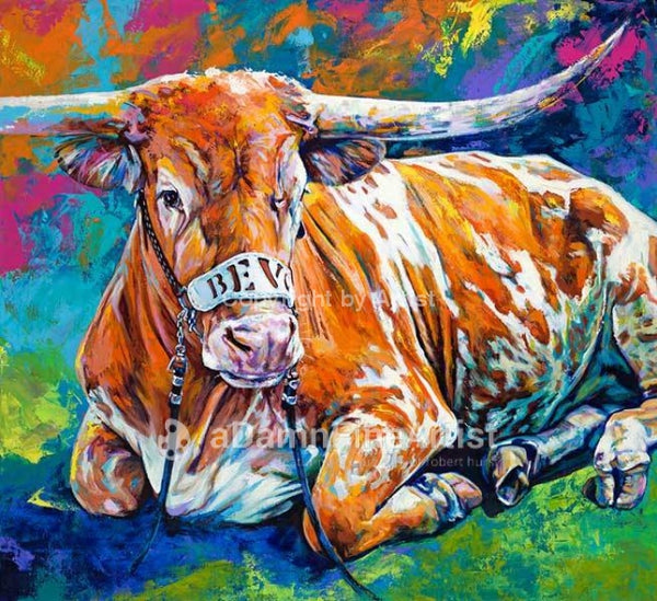 Bevo # 15 AKA Bevo XV limited edition canvas giclee print by Robert Hurst