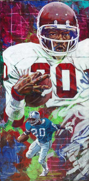 Billy Sims autographed limited edition print