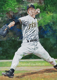 Billy Wagner - Ferrum College autographed fine art print signed by Wagner